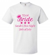 Team Bride White T-Shirt