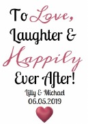 4PK Wedding Wine Labels