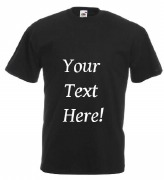 Your Text Here Black T-Shirt