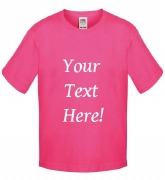 Your Text Here Pink T-Shirt
