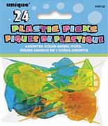 Tropical Fish Plastic Picks