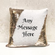 Any Text Sequin Cushion