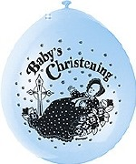 Baby Christening Blue Balloons