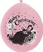 Baby Christening Pink Balloons
