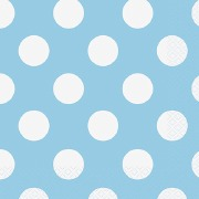 Baby Blue Dots Napkins