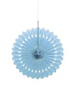 Baby Blue Fan Decoration