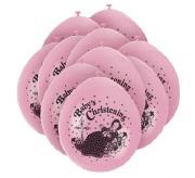 Baby Christening Pink Balloons