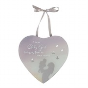 Baby Girl Reflection Plaque