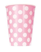 Baby Pink Dots Paper Cups