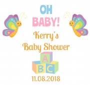 6PK Baby Shower Beer Labels