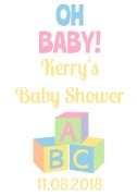 4PK Baby Shower Wine Labels
