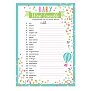 Baby Shower Word Games