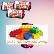 8PK Birthday Lego Lovehearts