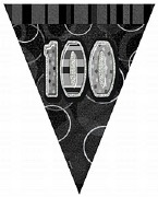Black 100th Birthday Bunting