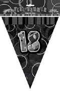 Black 18th Birthday Bunting