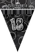 Black 18th Birthday Bunting