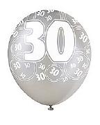 Black 30th Birthday Balloons