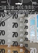 Black 70th Birthday Decoration