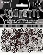 80th Black Confetti
