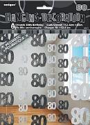 Black 80th Birthday Decoration