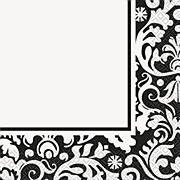 Black Damask Party Napkins