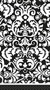 Black Damask Tablecover