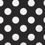 Black Dots Paper Napkins