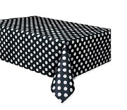 Black Dots Plastic Tablecover