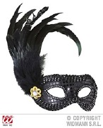 Black Feather Eyemask