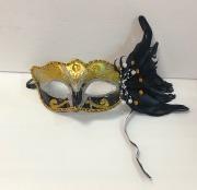 Black & Gold Feather Eyemask