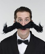 Black Bendy Moustache