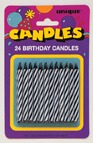 Black Birthday Candles