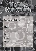 Black Birthday Invitations
