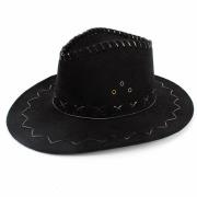 Black Deluxe Cowboy Hat