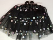 Black Dotted Tutu