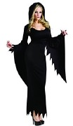 Black Hooded Gown Costume