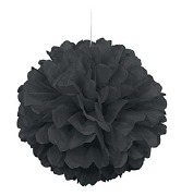 Black Puff Ball Decoration