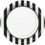 Black Stripe Plates