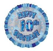 Blue 10th Birthday Balloon