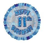 Blue 11th Birthday Balloon