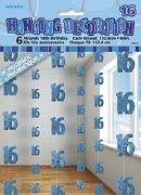 Blue 16th Birthday Decoration