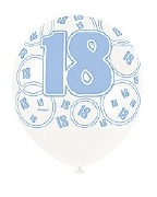 Blue 18th Birthday Balloons