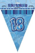 Blue 18th Birthday Bunting