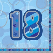 Blue 18th Birthday Napkins