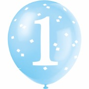Blue Dot 1st Birthday Balloons