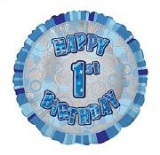 Blue 1st Birthday Balloon
