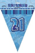 Blue 21st Birthday Bunting