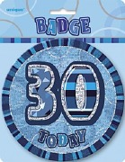 Blue 30th Birthday Badge
