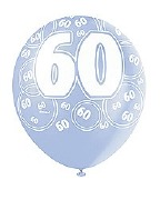 Blue 60th Birthday Balloons