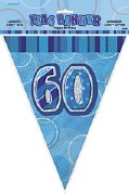 Blue 60th Birthday Bunting